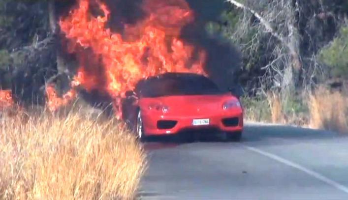 Banegas Ferrari Bursts into Flames