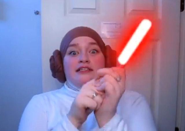 Girl Turns Her Hijab Into Princess Leia Hair Buns