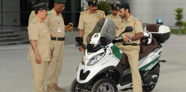 Dubai Police Three Wheeled Motorcycle